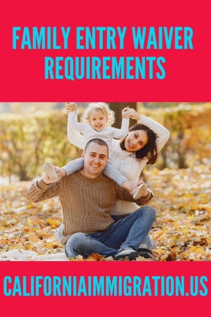 family entry requirments