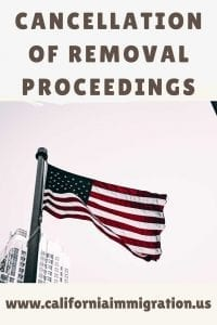 cancellation of removal proceedings