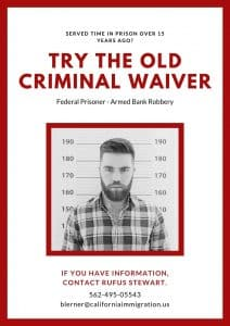 old crime waiver